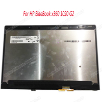 12.5 inch for HP EliteBook x360 1020 G2 LCD LED Touch Screen Display FHD Glass Digitizer assembly with Bezel