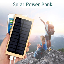 Solar Power Bank 20000mah External Battery Quick Charge Dual USB Powerbank Portable Phone Charger Battery Charger for iPhone X