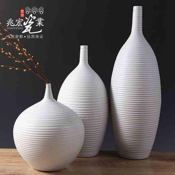 Siu Hong céramique moderne minimaliste salon décoration mode bijoux artisanat blanc vase ameublement