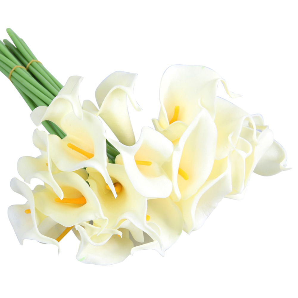 10x Artificial Real Touch Calla Lily Fake Flowers Wedding Home Garden Decor DIY
