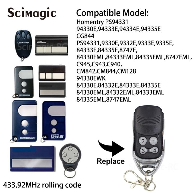 94334E compatible télécommande 433,92Mhz 94330E 94333E Liftmaster 94335E