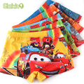 5 pcs/lot Soft Children's Boxer Summer Cool Children Boys Underwear Cute Cartoon Car Kids Underwear Briefs Pants Underpants 2-7Y
