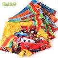 5 pcs/lot Soft Children's Boxer Summer Cool Children Boys Underwear Cute Cartoon Car Kids Underwear Briefs Pants Underpants 2-7Y