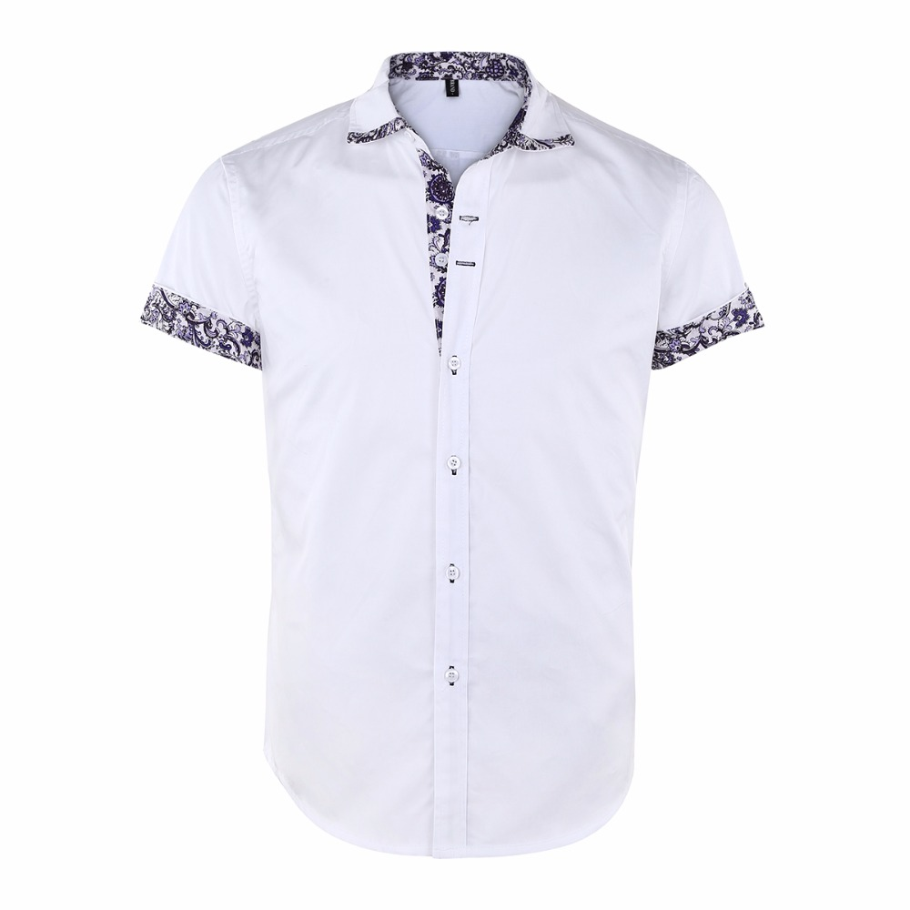 c922b8936de 2018 Mens Casual Shirts Spring Autumn Short Sleeve Tops Turn-down Collar  Solid Color Work Shirt Male Clothes Plus Size 3XL