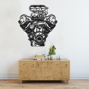 Large Car Engine Motor Wall St