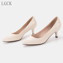 Plus Size 34-43 Genuine Leather Women Pumps Shoes Pointed Toe office high heel Pumps Quality Wedding Fashion Sexy Comfortable lafs cstlav genuine leather elegant pumps for women high heel sweet light comfortable black work office shoe fashion dress shoes