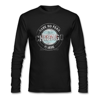 Fashion Have No Fear Chicago Is Here T Shirt Party Men T Shirt Cotton Long Sleeve