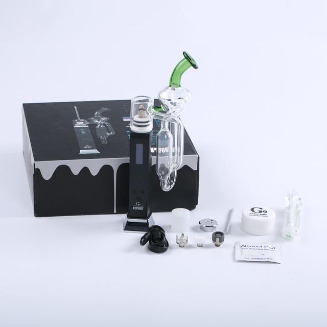 Электронные сигареты кальянного фруктовым комплект greenlightvapes G9 tcport DAB RIG испаритель Vape ручка 3000 мАч Батарея вейпер с OLED Дисплей