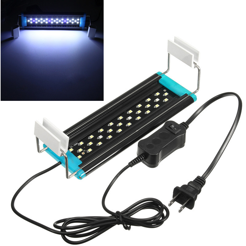 цена на AC220-240V 4W/5W/6W/8W/10W For 20cm-70cm Ultrathin LED Underwater Light Aquarium Fish Fishbowl Tank 2835 Blue/White Lamp Light