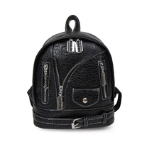 Homeda New Hip Hop PU Leather Women Backpack Fashion Street Parent Child Package S L Travel