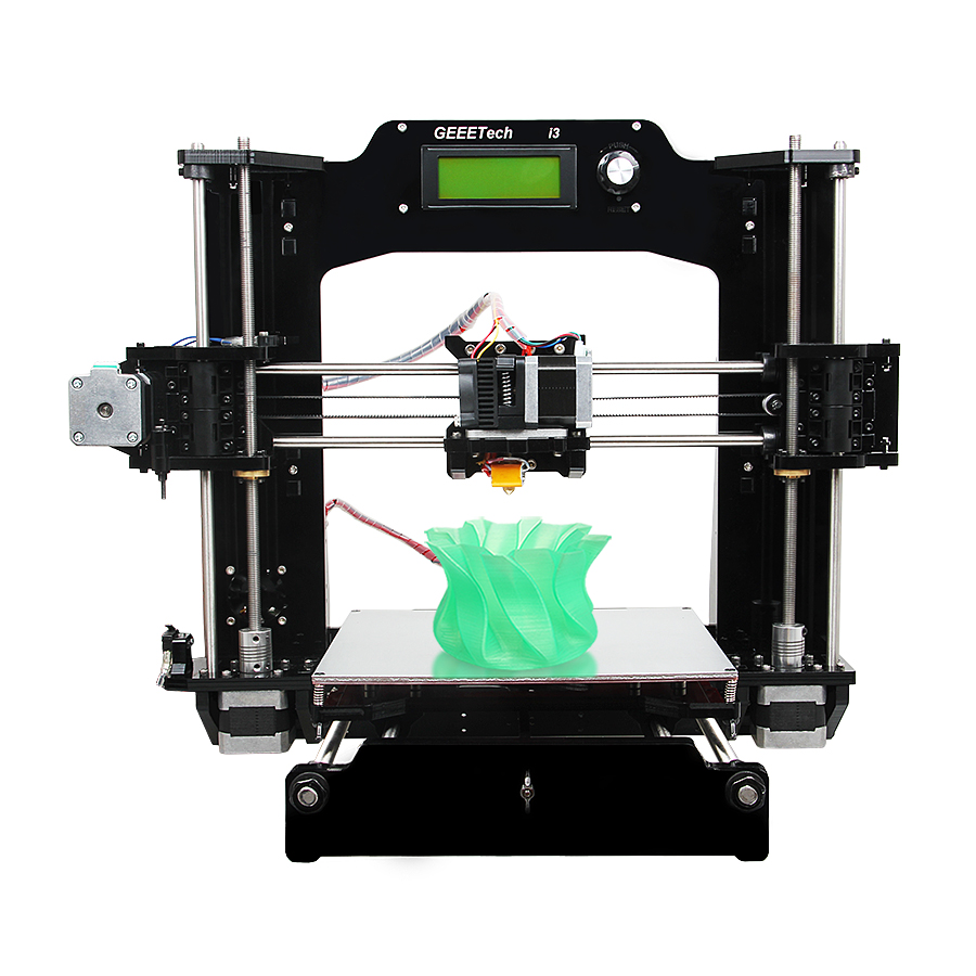 Free Tax from Germany Geeetech 3D Printer Reprap Prusa I3 X Full Acrylic Frame Upgraded Quality