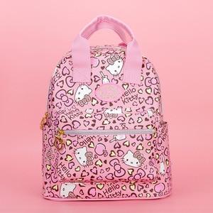 Image 3 - جديد لطيف مرحبا كيتي حقيبة مدرسية للظهر حقيبة محفظة yey 3303