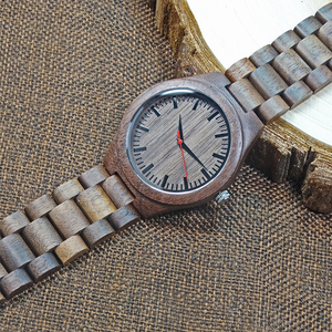 Image 2 - 2018 Mens Walnut Holz Uhren casual Quarz Armbanduhr Volle Natürliche Holz uhr Männlichen Uhren Mode Männer Armreif Armbanduhr