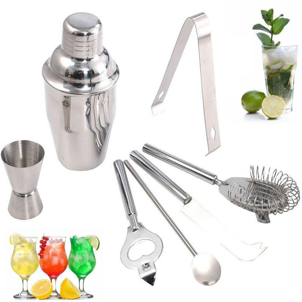 Stainless Steel Cocktail Shaker Bartender Kit Bar Set Martini Drink Mixer Tools