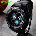 Luxury Brand SANDA Fashion Men Sports Watches Dual Display Watch Water Resistant Multifunction Watch relogio masculino