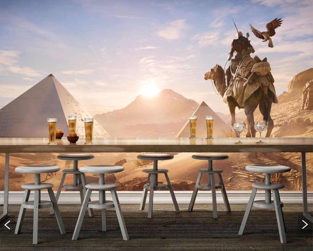 Fondo fotográfico Camels Warriors Egypt Sunrises and sunsets, Fondo de TV para sala de estar, habitación de niños, bar de estudio, murales personalizados en 3d