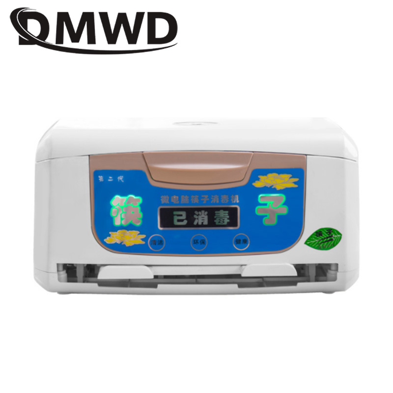 DMWD LED Electric Chopsticks Sterilizer Box Cleaner Sterilization Holder Restaurant Kitchen Chopstick Ozone Disinfection Cabinet