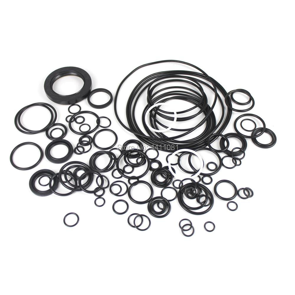 For Kobelco SK200-8 Main Pump Seal Repair Service Kit Excavator Oil Seals, 3 month warranty new rotation solenoid valve kwe5k 31 g24ya50 for excavator sk200 6e
