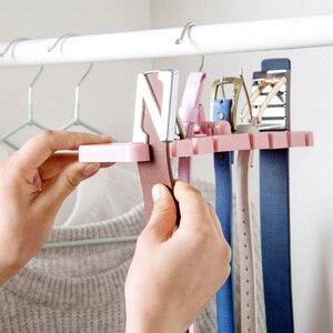 Image 5 - Multifuctional Storage Rack Tie Belt Organizer Rotating Ties Hanger Holder Wardrobe Closet Storage Holder with Metal Hanger