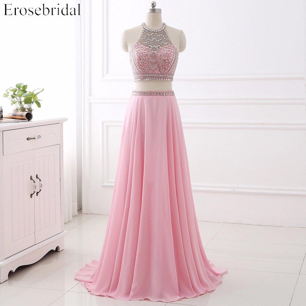 ୧ʕ ʔ୨Elegante dos piezas Vestidos de noche erosebridal vestido ...
