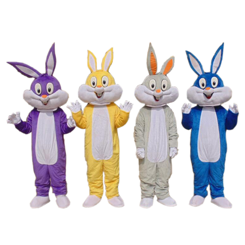 Adaptable Adult Bugs Bunny Rabbit Mascot Costume Carnival Festival Commercial Advertising Party Dress With A Mini Fan Inside Head Buy One Give One
