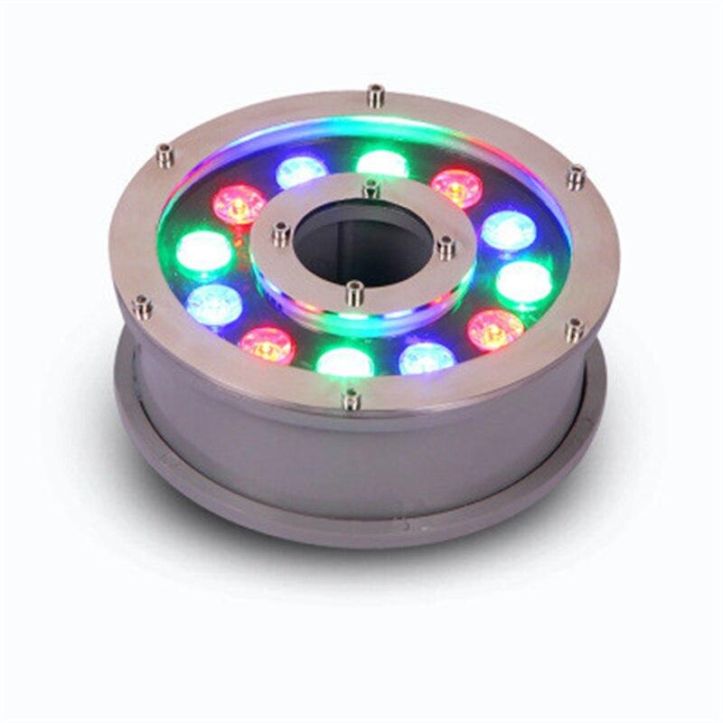 Outdoor Underwater Light IP68 Fountain Underwater Light 6W/9W12W/15W/18W 12V/85-265V Swimming Pool Waterproof Spotlight