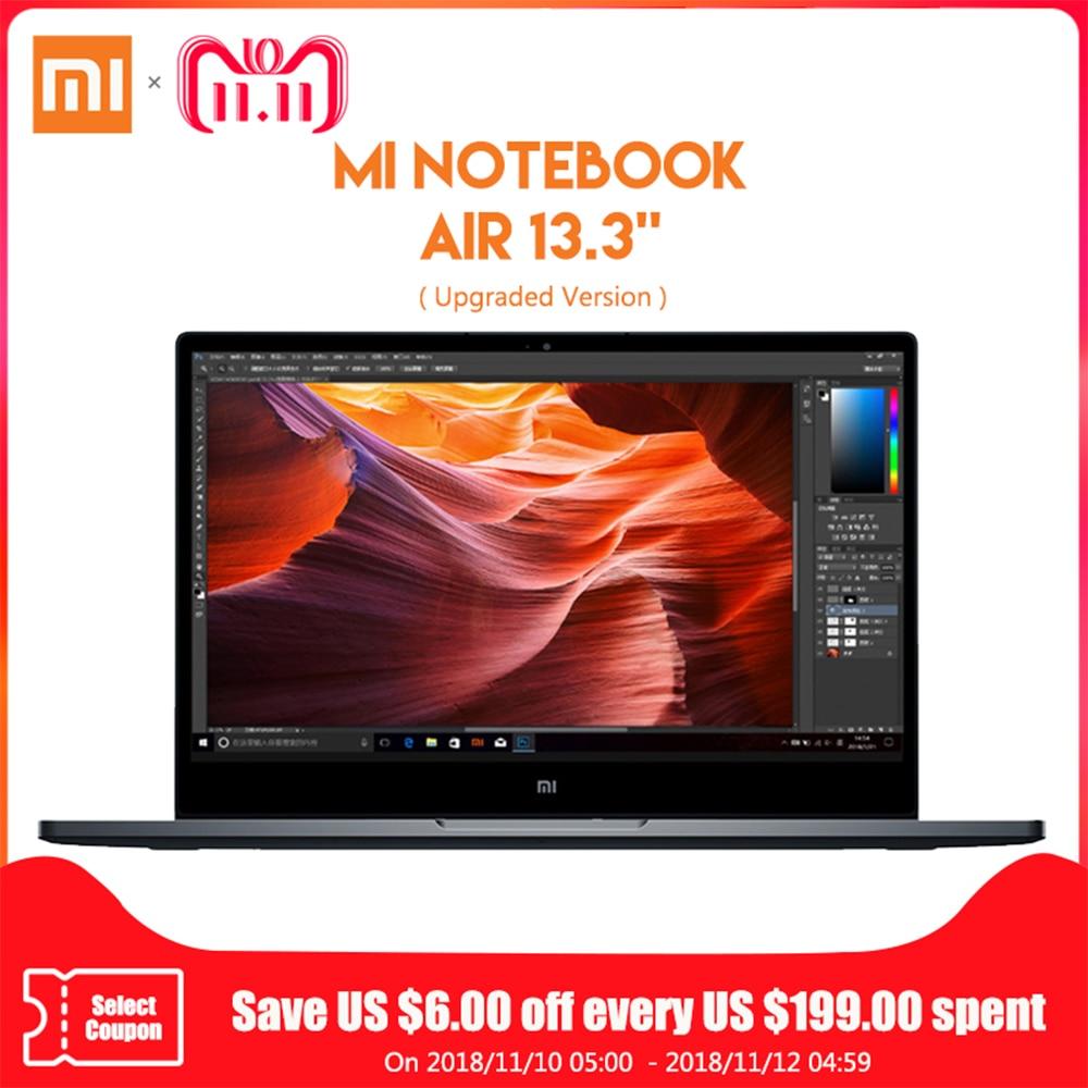 Original Xiao mi Notebook Air 13,3 Windows 10 Intel Core i7-8550U Quad Core portátil 8 GB RAM 256 GB SSD de huellas dactilares