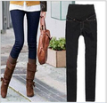 2016 nova moda tamanho grande maternidade jeans slim cor sólida para mulheres grávidas importo calças barriga Gravidez roupas casuais
