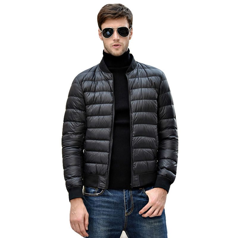 New Men Casual Warm Jackets Solid Thin Breathable Winter Jacket Mens Outwear Coat Duck Down Lightweight Parka hombre jaqueta