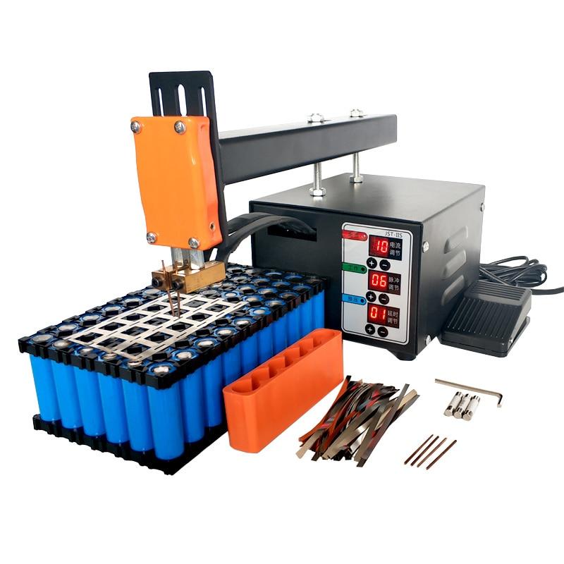 Soudeur à points de batterie, Machine à souder à points avec haute puissance 18650 Batteries au Lithium, soudage à bande Nickel, soudeur à impulsion de précision