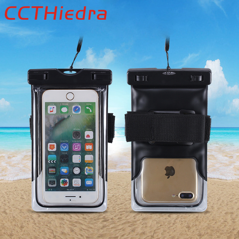 CCTHiedra Multi-Function Waterproof Clear Phone Pouch Bags Case For iphone X 8 7 6 Plus For Samsung Galaxy S8 S7 Edge Universal