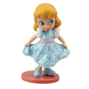 Image 3 - 디즈니 프린세스 11 pcs 액션 피규어 8 cm 모아 나 백설 공주 메리다 뮬란 인어 티아나 재스민 인형 어린이 장난감 어린이 컬렉션