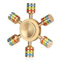 DODOELEPHANT Rainbow Metal Bearing Fingertip EDC Toys Triangular Hand Spinner Professional Fidget Spinner Autism And ADHD