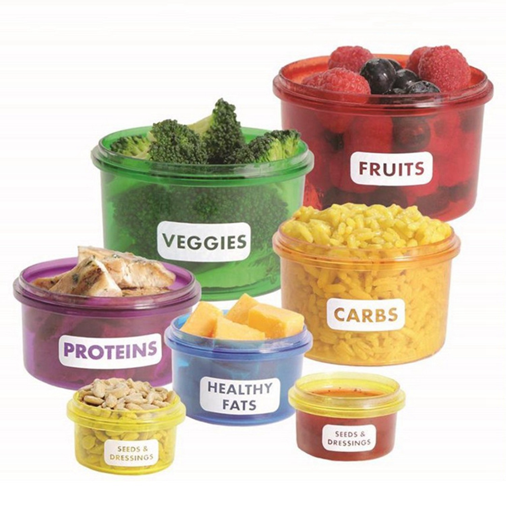2017 New 7pcs/set Perfect Portions Portion Lunch Cute Box Control Containers Food Storage-Easy Way To Lose Weight Using Portion