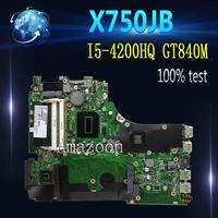 Материнская плата Amazoon X750JB GT840M/2 ГБ-I5-4200HQ для ASUS k750J A750J X750JN X750JB Материнская плата ноутбука