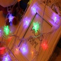 ノベルティ100 ledカラフルな接続可能花飾りパーティースターストリングランプledクリスマスライト妖精ウェディングガーデンペン