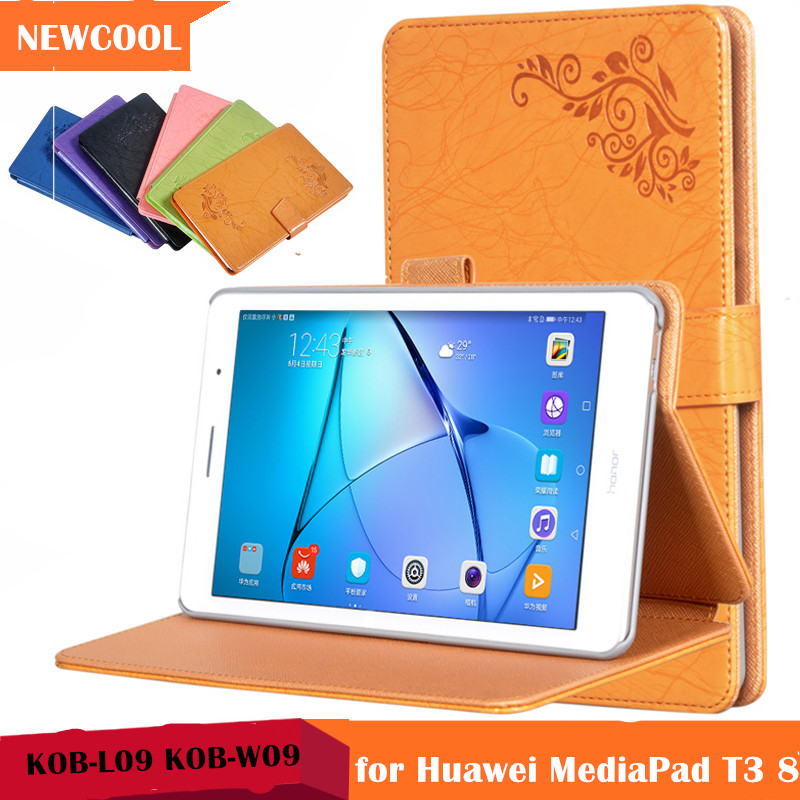 T3 8.0 Magnet Floral Smart PU Leather case Flip Cover for Huawei MediaPad T3 8.0 KOB-L09 KOB-W09 tablet case Protective shell mediapad m3 lite 8 0 skin ultra slim cartoon stand pu leather case cover for huawei mediapad m3 lite 8 0 cpn w09 cpn al00 8