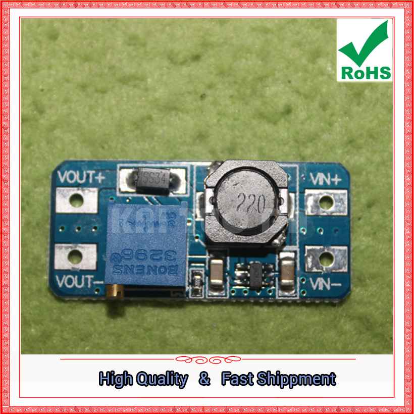 5pcs MT3608 DC-DC Boost Module 2A Input Voltage 2V-15V TO 5V/9V/12V/28V Adjustable power supply step up converter board Booster ...