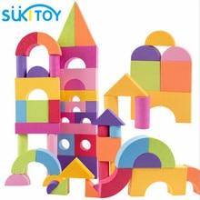 Детский мягкий ЕВА block set 50 PCS для детей Развивающие мягкие Монтессори интеллектуальные Toys рано Head Start Training