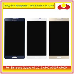 Image 1 - ORIGINAL For Samsung Galaxy A7 2015 A700 A700F SM A700F LCD Display With Touch Screen Digitizer Panel Pantalla Complete Assembly