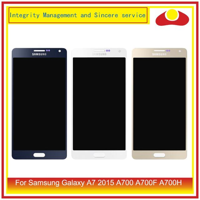 ORIGINAL For Samsung Galaxy A7 2015 A700 A700F SM A700F LCD Display With Touch Screen Digitizer Panel Pantalla Complete Assembly