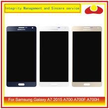 Original para samsung galaxy a7 2015 a700 a700f SM A700F display lcd com tela de toque digitador do painel pantalla conjunto completo
