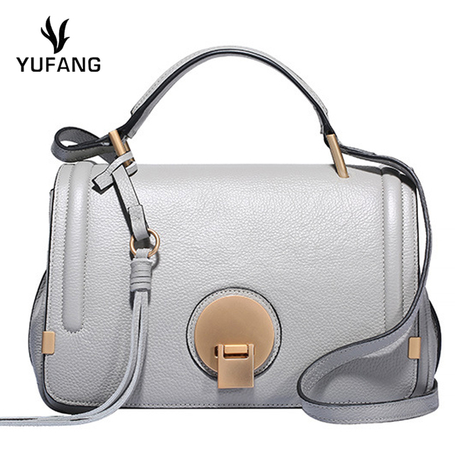 400c4b99637 YUFANG Genuine Leather Brand Messenger Bag Female China Style Women Handbag  Classic Fashion Daily Crossbody Bag