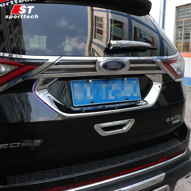 Car Trunk Trim Strip For Ford Edge Abs Chromium Styling Car Boot Cover D Stickers Cover For Ford Edge   Accessories In Chromium Styling From