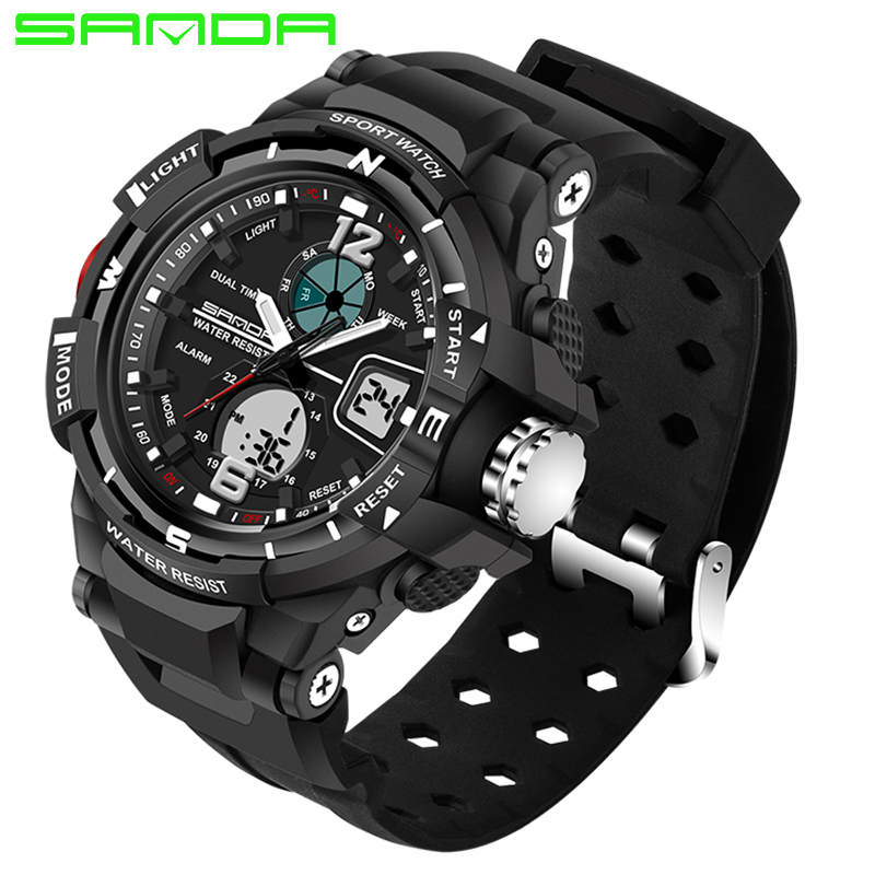 SANDA 289 Luxury Watch Men Fashion Waterproof Analog Sports Quartz Wrist Watch Mens Watches Top Brand luxury reloj mujer 2017 jedir mens watches top brand luxury quartz watch men s fashion sports watches gift box free ship