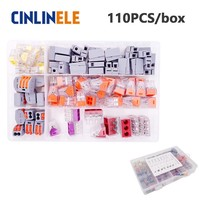 110pcs Box 3 Room Set Fast WAGO Connector Set Mixed Models Universal Compact Wire Wiring Connector