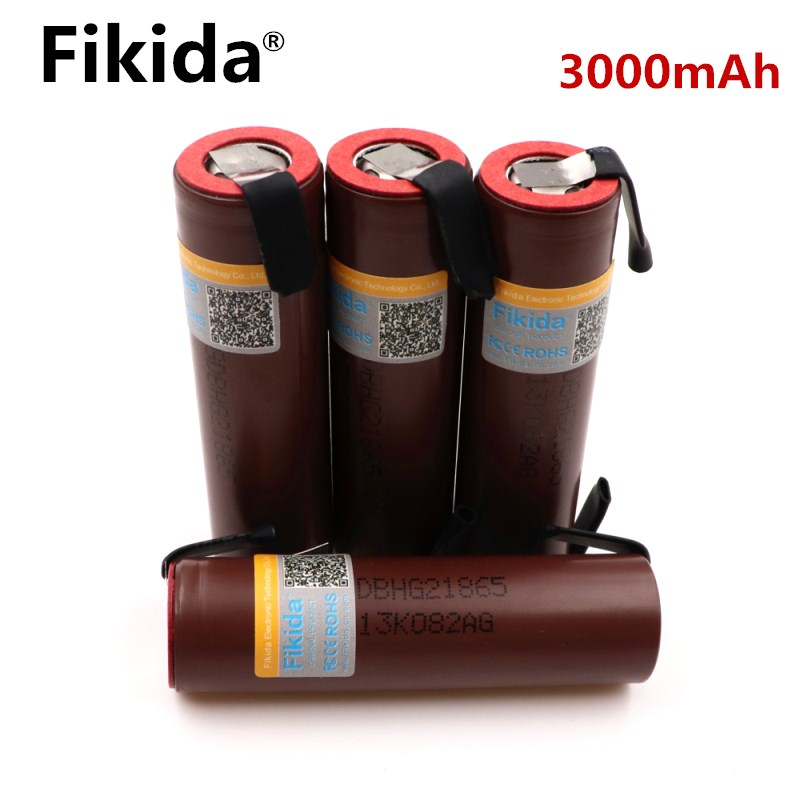 10PCS Original for LG HG2 18650 3000mAh electronic cigarette rechargeable battery high-discharge, 30A high current + DIY nicke