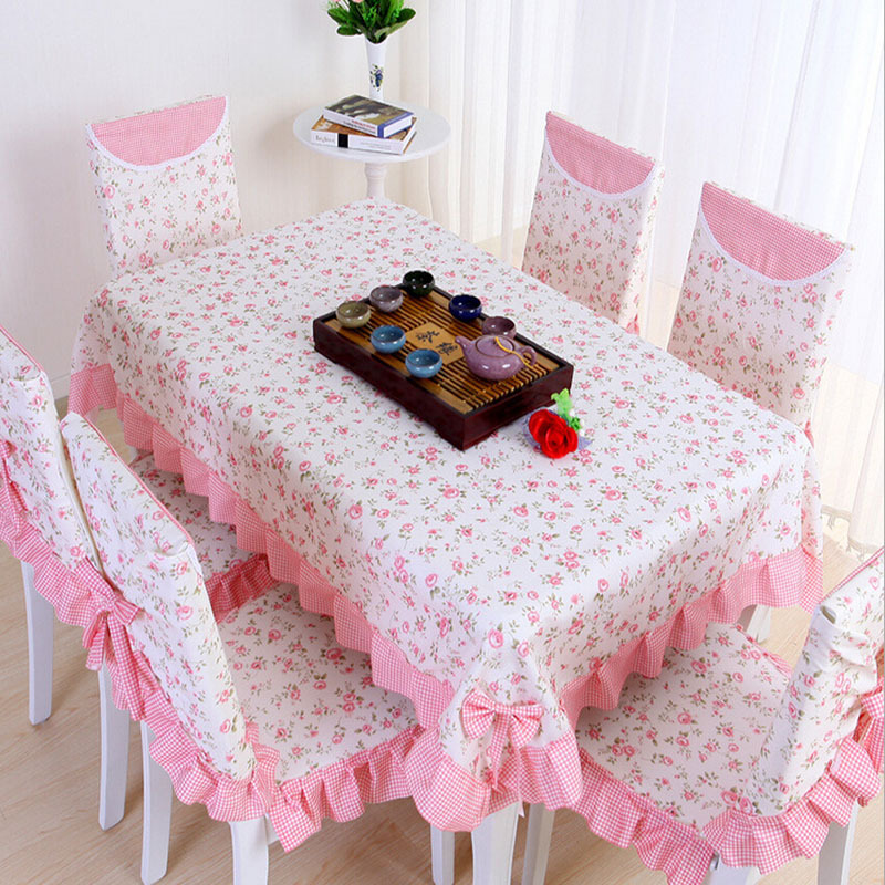 Rural pink tablecloths High end table cloth Fashionable table