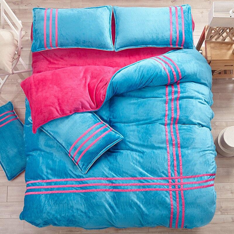 Модные фланелевые постельные принадлежности, размер king queen 4 шт.