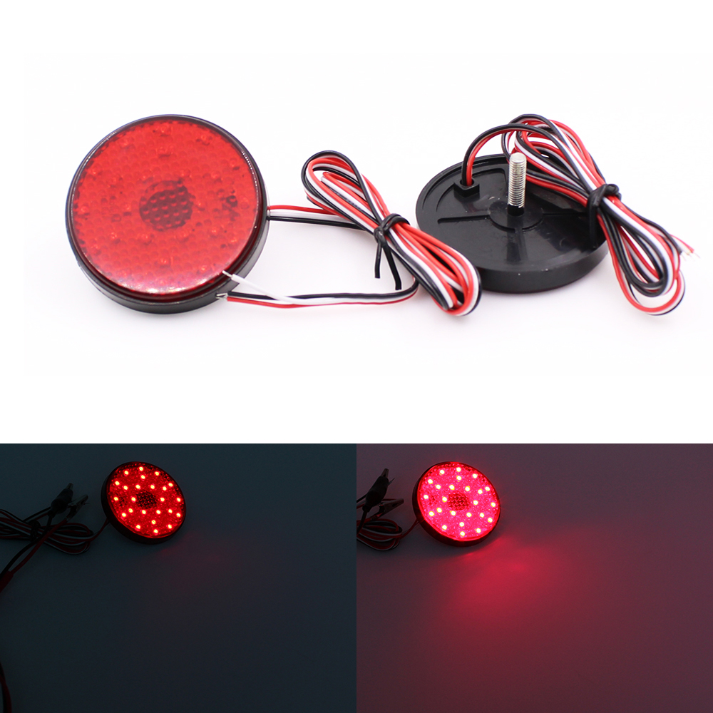 Buy Red Lens Round Led Rear Bumper Reflector Tail Toyota Highlander Light Wiring Schematic Brake For Sequoia Zrr70 Voxy Noah From Reliable